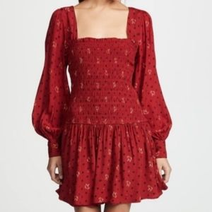 Free People Two Faces Print Mini Dress NWT Size L